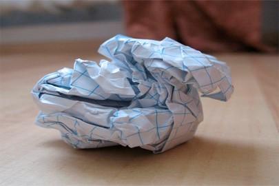 комок бумаги